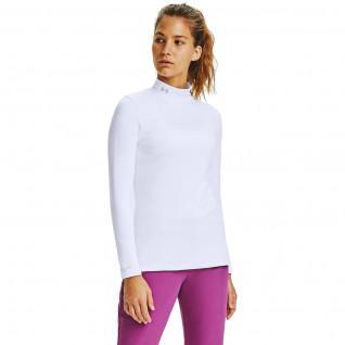 ColdGear Infrared Long Sleeve Women's Golf Shirt with stand-up collar