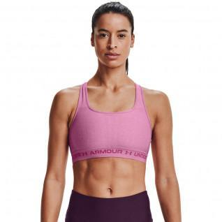 Under Armour women's cross-back bra with moderate support Heather