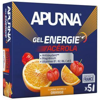 Pack of 5 gels Apurna Energy Acerola Orange - 35g