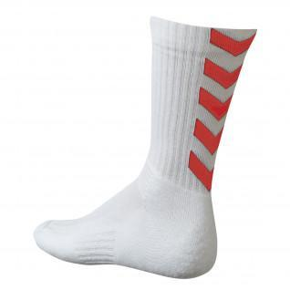 Socks Hummel Authentic Indoor - White / Red