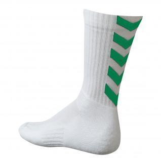 Chaussettes Hummel Authentic Indoor - Blanc/vert