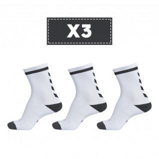 Set of 3 pairs of light-coloured socks Hummel Elite Indoor Low