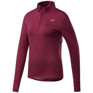 Sweatshirt woman Reebok Running 1/4 Zip