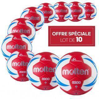 Set of 10 Molten HX3200 FFHB training handballs