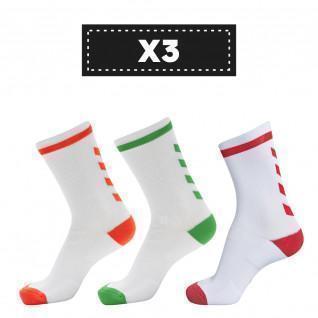 Set of 3 pairs of light-coloured socks Hummel Elite Indoor Low (coloris au choix)