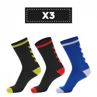 Set of 3 pairs of socks Hummel Elite Indoor Low (colors)