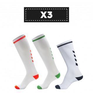 Set of 3 pairs of socks Hummel Elite Indoor High (colors)