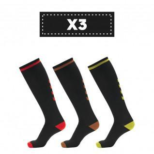 3 Pack dark Hummel Elite Indoor high socks (colors)