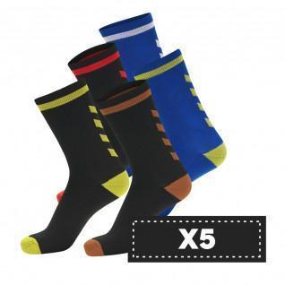 Lot 5 pairs of socks Hummel Elite Indoor Low (colors)