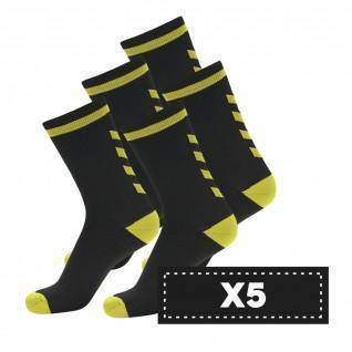 Lot 5 pairs of dark socks Hummel Elite Indoor Low