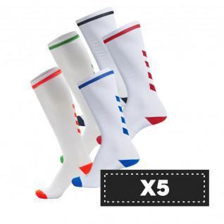 Lot 5 pairs of socks Hummel Elite Indoor High (colors)
