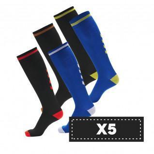 5 Pack dark Hummel Elite Indoor high socks (colors)