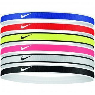 Pack of 6 Nike Swoosh tipped hair elastics