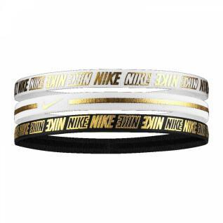 Nike headbands mixed Metallic x3
