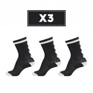 Set of 3 pairs of dark socks Hummel Elite Indoor Low