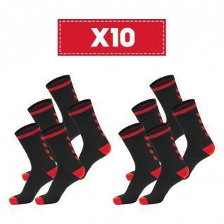 Lot of 10 pairs of dark socks Hummel Elite Indoor Low