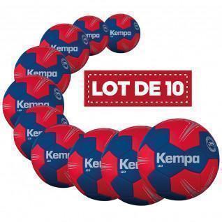 Set of 10 Kempa Leo handballs
