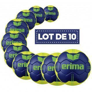Set of 10 Erima Pure Grip No. 4 handballs