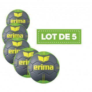 Set of 5 Erima Pure Grip # 2 handballs Size 2