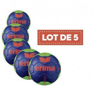 Set of 5 Erima Pure Grip No. 3 handballs