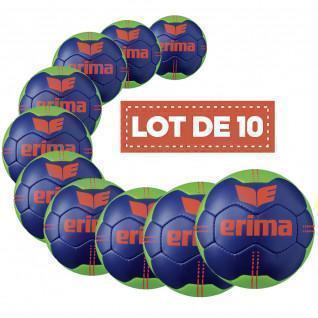 Set of 10 Erima Pure Grip No. 3 handballs