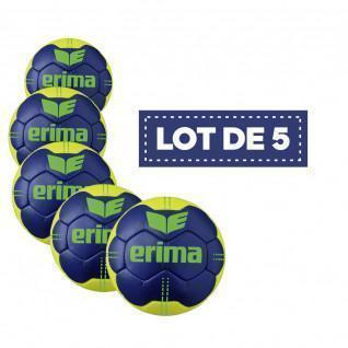 Set of 5 Erima Pure Grip No. 4 handballs