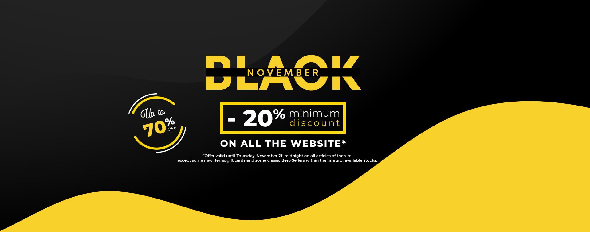 Black November Up to 70% off